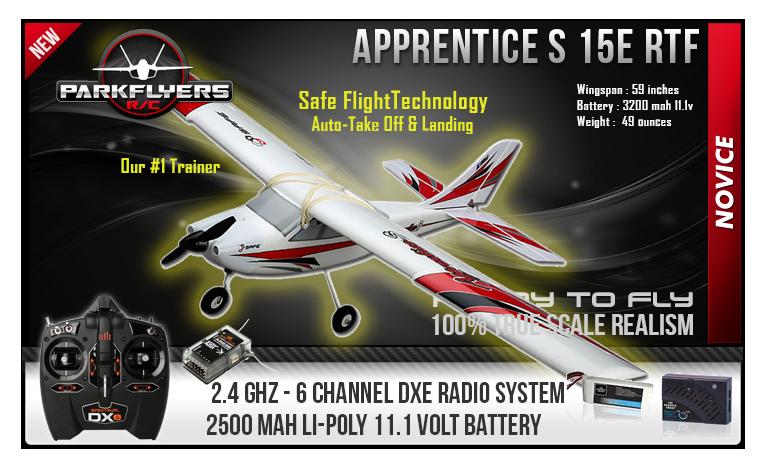 Apprentice S 15e RC Electric Airplane with Safe RTF