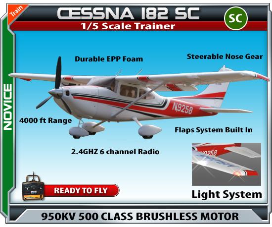 Cessna 182 1 5 Scale Super Class Rtf