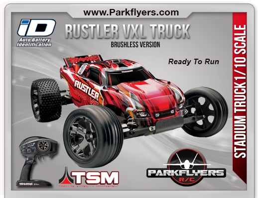 Traxxas 1 10 Rustler VXL TQi RTR W ID Connector
