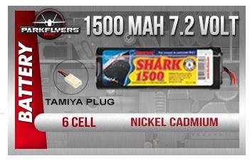 duratrax shark 1500mah 6 cell 7 2 volt nicd battery